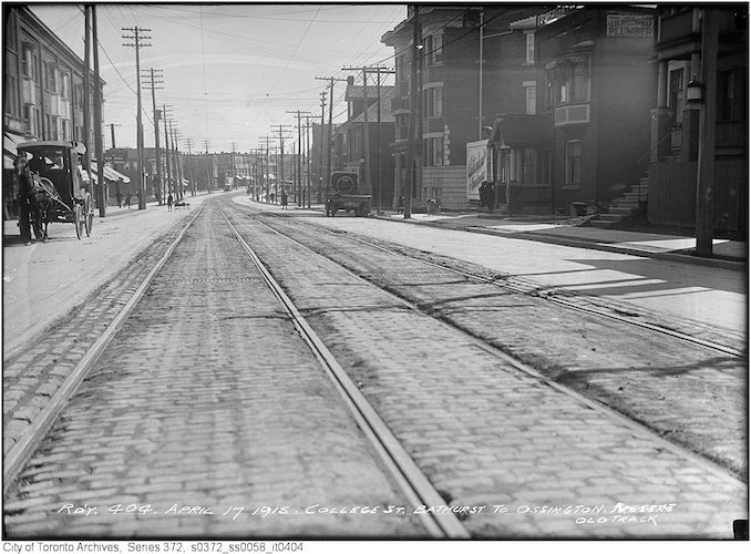 1915 - April 17 - College St. - Bathurst to Ossington Old Track