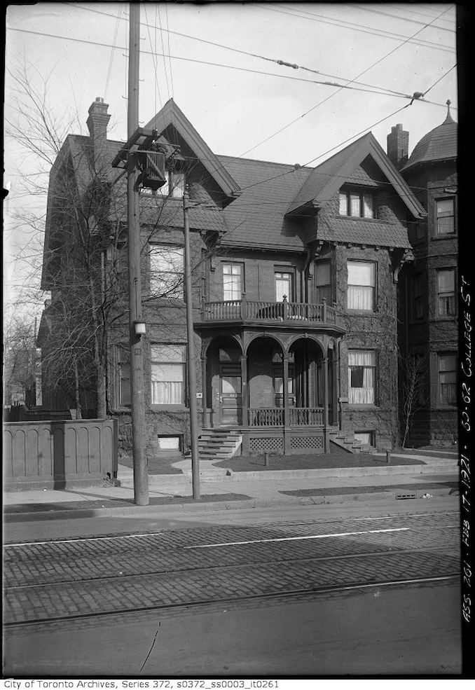 1921 - February 17 - 1921 - 60-62 College Street — Terauley Street Extension