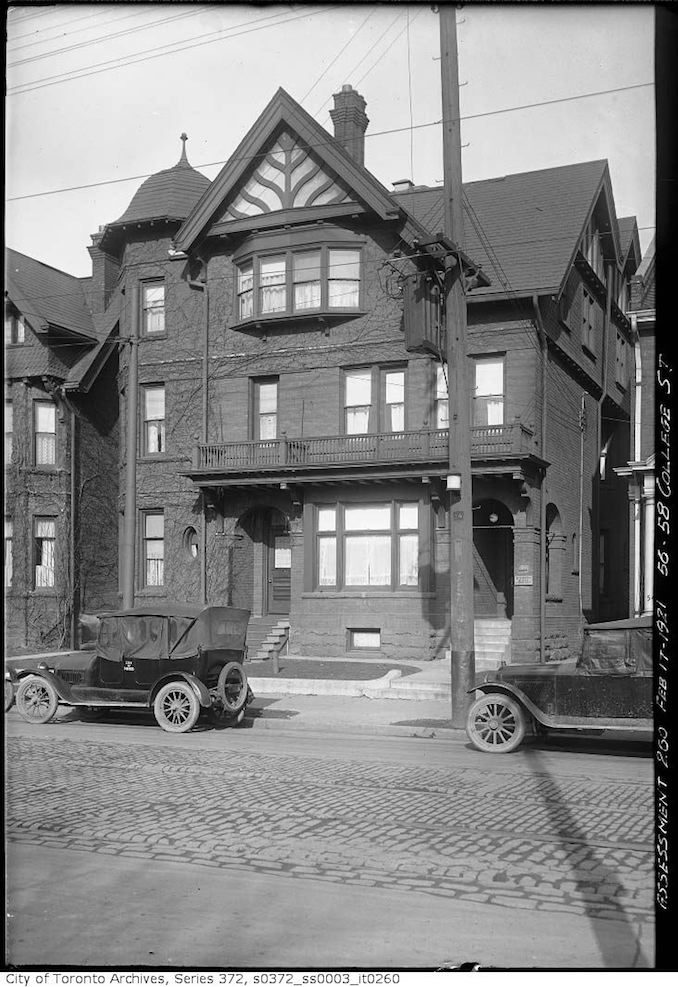 1921 - February 17 - 56-58 College Street — Terauley Street Extension