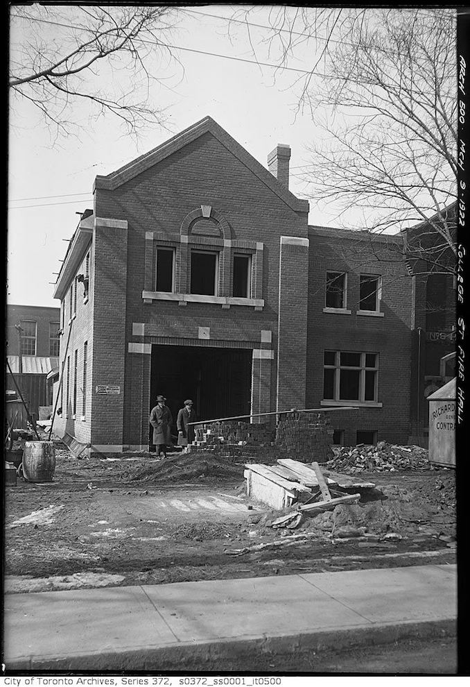 1922 - March 9 - College Street Fire Hall