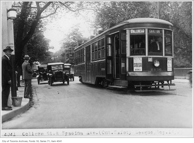 1925 - Sept 14 - College St and Spadina Ave, (Ontario Safety League)