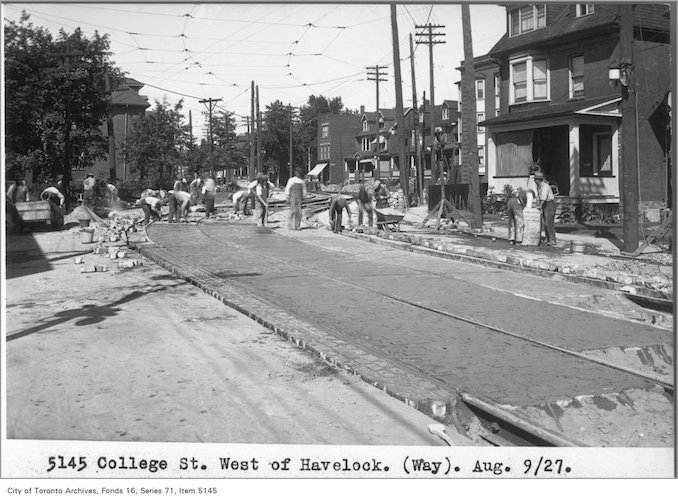 1927 - Aug 9 - College St, west of Havelock, (Way Department)