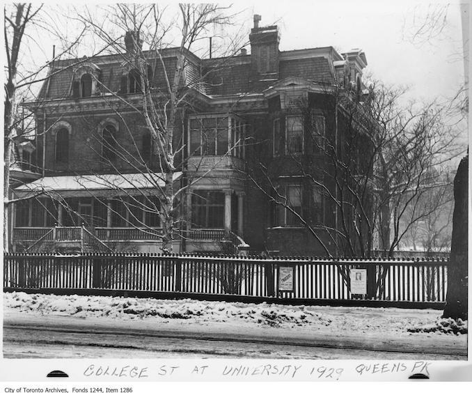 1929 - House, northeast corner of College Street and University Avenue