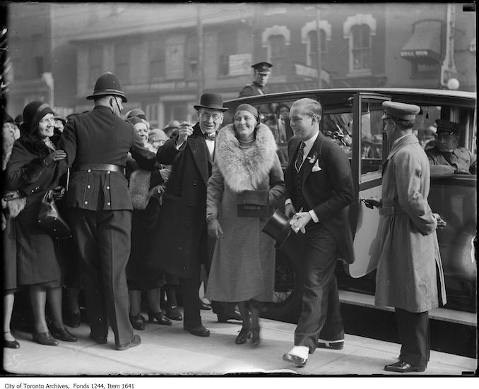 1930 - John David Eaton and Lady Eaton at Eaton's College Street store opening