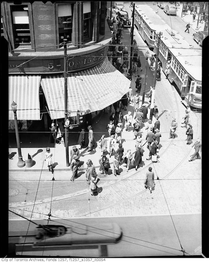 1930? - Yonge Street and Queen Street West