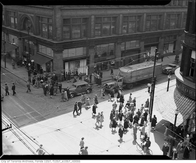 1930 - Yonge Street and Queen Street West