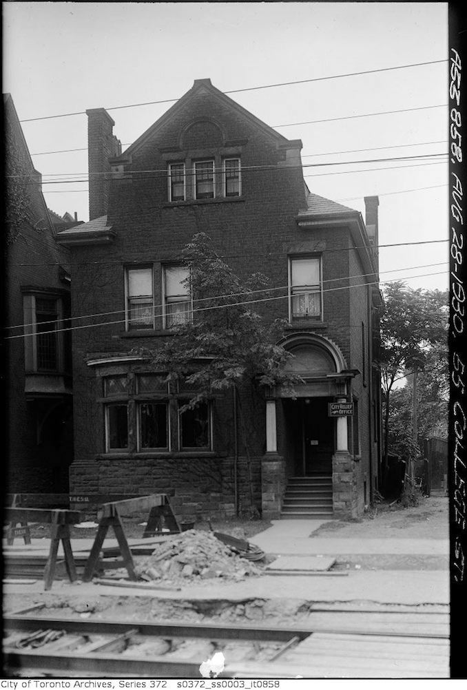 1930 - aug 28 - 55 College Street — Widening