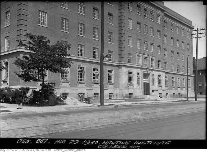 1930 - aug 28- Banting Institute, College Street — Widening