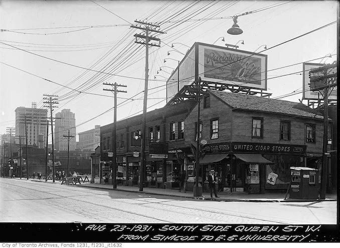 1931 - Aug 23 - Southeast corner of Queen Street and University Avenue