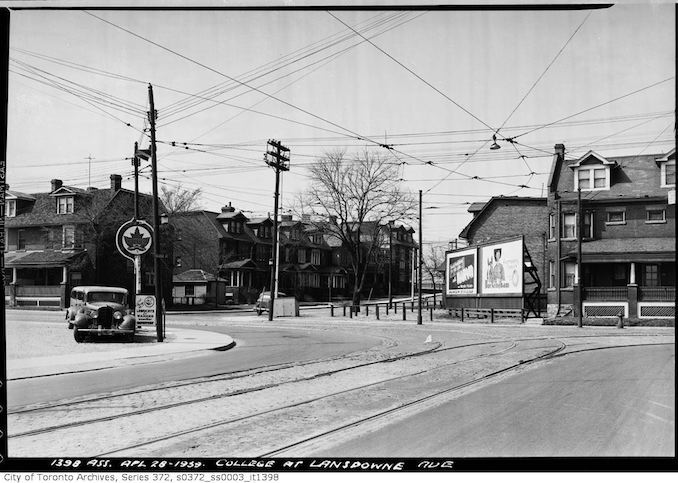 1939 - April 28 - College Street at Lansdowne Avenue — College Street Extension