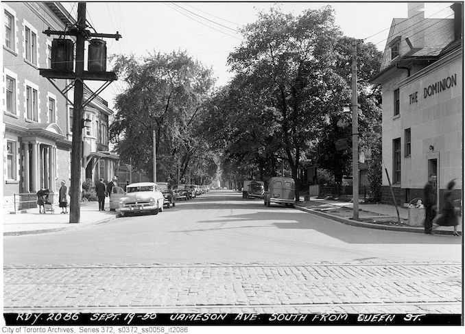 1950 - Sept 19 - Jameson Avenue south from Queen Street