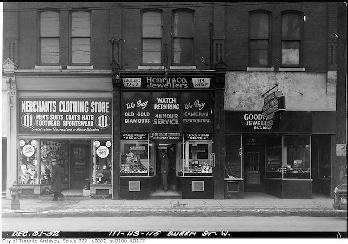 1952 - 111, 113, 115 Queen Street West
