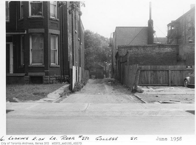 1958 - June - 370 College Street - lane