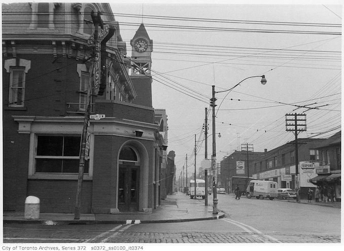 1958 - Oct 23 - Ossington Avenue and Queen Street West