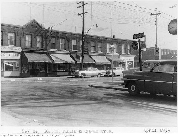 1959 - Southeast corner Morse and Queen Street