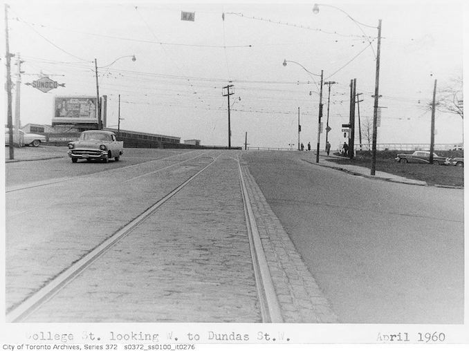 1960 - April - College Street looking west to Dundas Street