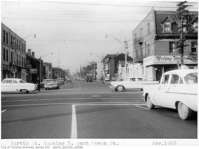 1960 - Jarvis Street looking north past Queen Street