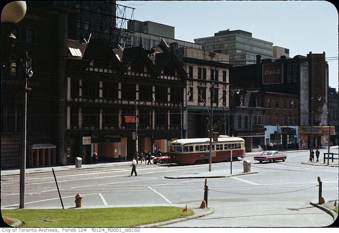 1963 - Queen Street West, south side, opposite City Hall at Bay Street