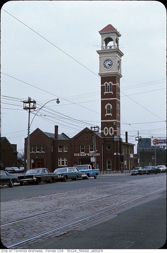 1968 - April - Fire Hall, College Street and Bellevue Avenue