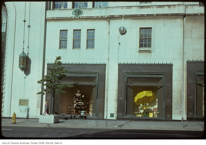 1975 - June 6 - View of window displays at Eaton's College Street store on Yonge, south of College Street