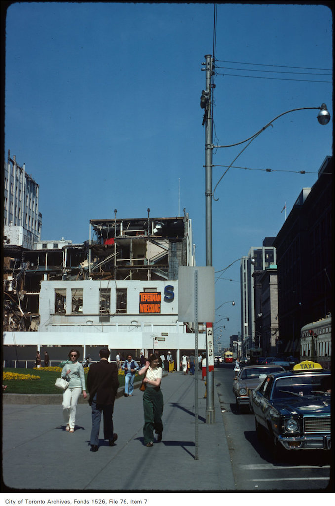 1977 - May 19 - View of Queen Street West, looking east from Bay Street