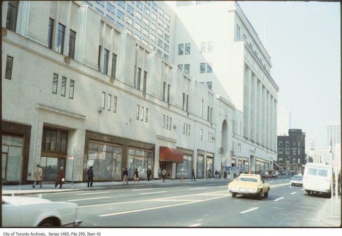 1978 - Eaton's College Street store, west side of Yonge looking north to College