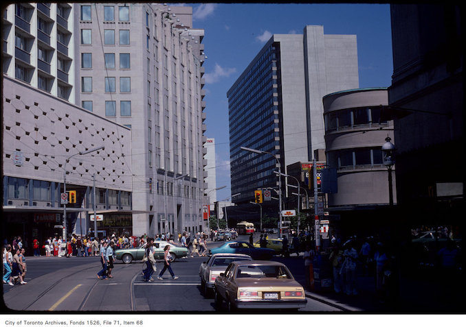 1981 - June 6 - View of College Street at Yonge Street