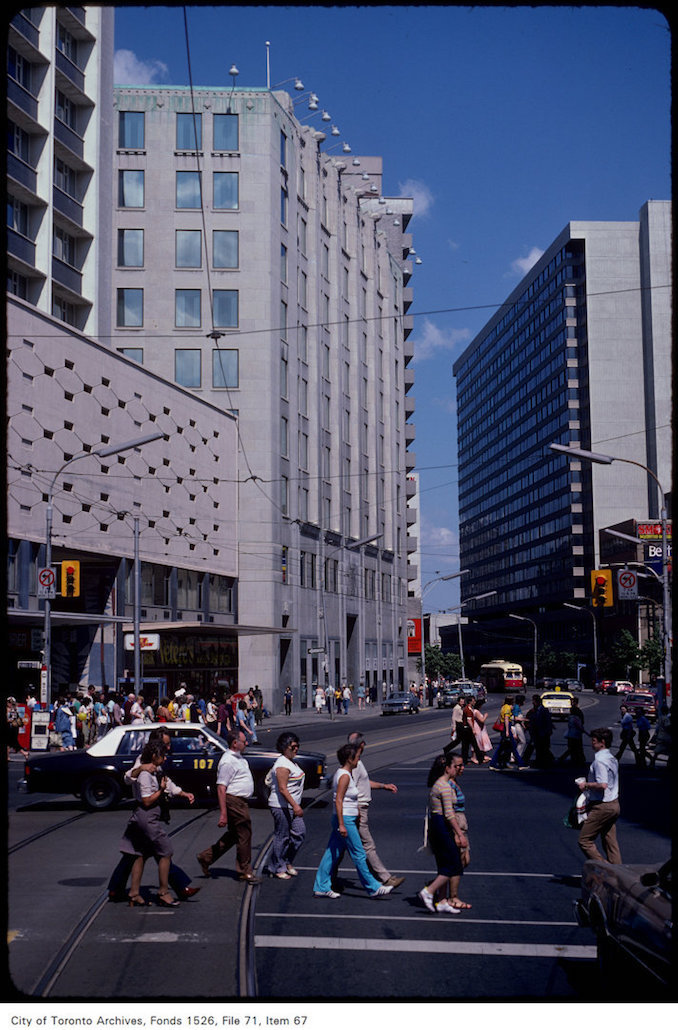 1981 - June 6 - View of College Street looking east at Yonge Street