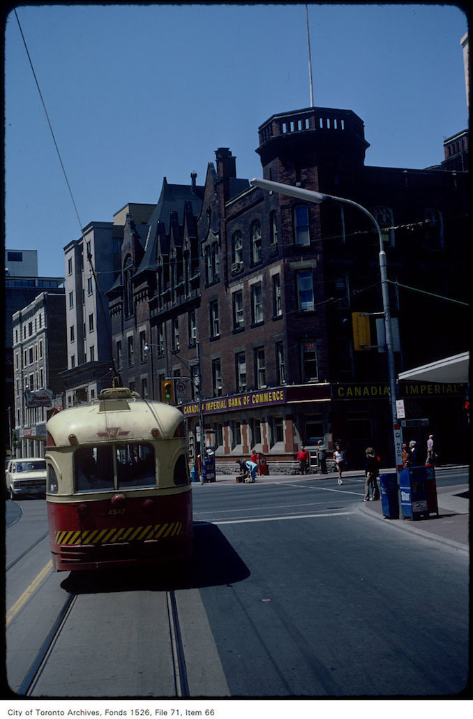 1981 - June 7 - View of College Street looking west at Yonge Street