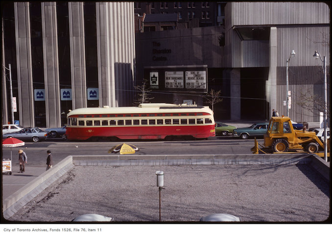 1983 - May 11 - View of south side of Queen Street West from Bay Street