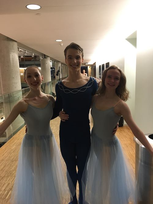 This is me on the right with fellow classmates after a performance of Serenade, which we danced in NBS' Spring Showcase.
