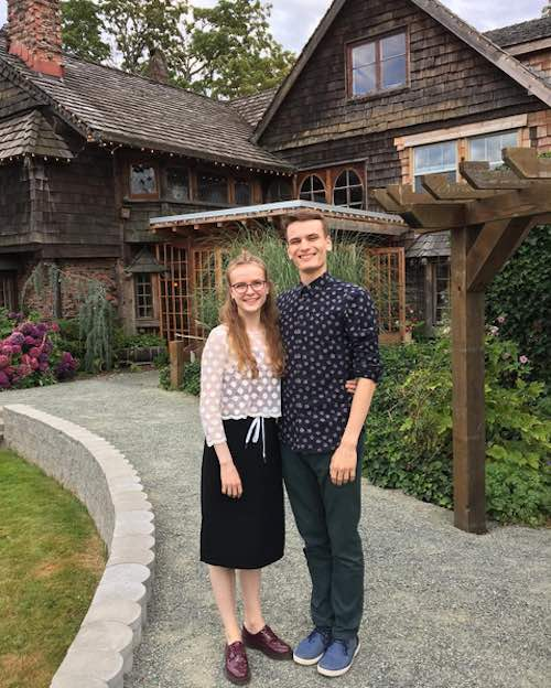 This is a photo of my brother and I back home on Vancouver Island. He attends school at the University of Toronto