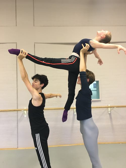 This is a photo taken when I went on exchange in Amsterdam. This is a lift in the ballet 'Yondering' by John Neumeier. We performed 'Yondering' here at NBS in our Spring Showcase in 2016.