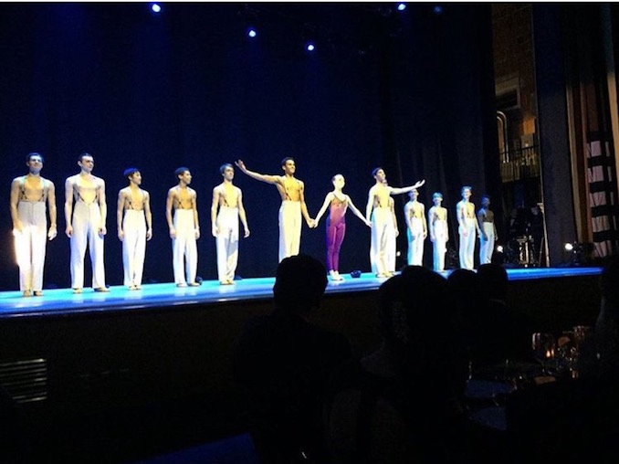 This photo was taken at NBS's Gala in 2016, where we performed excerpts from John Neumeier's ballet 'Yondering.' I had so much fun that night dancing on the stage with my friends.