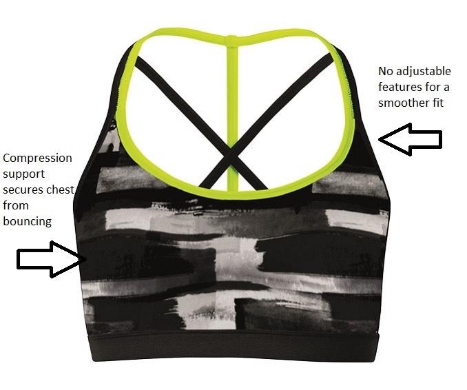 Hyba low impact printed sports bra $39.90