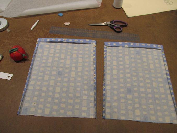 Make Den Sewing Project - drawstring bag layout.