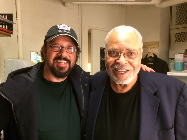 Me with James Earl Jones. I was the EP and director of his ABC series Gabriel's Fire