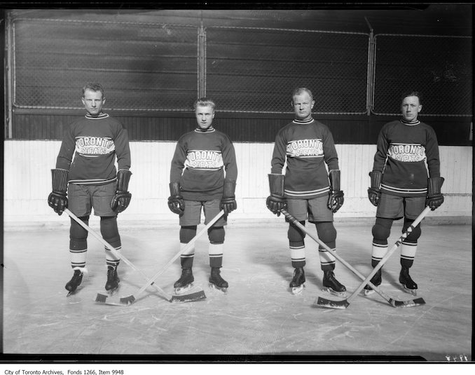 1926 - December 3rd - United Church - St. Patrick's hockey team - group of four