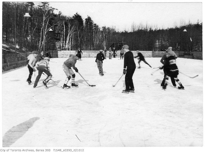 1927 - January 1st - Hockey Game - High Park