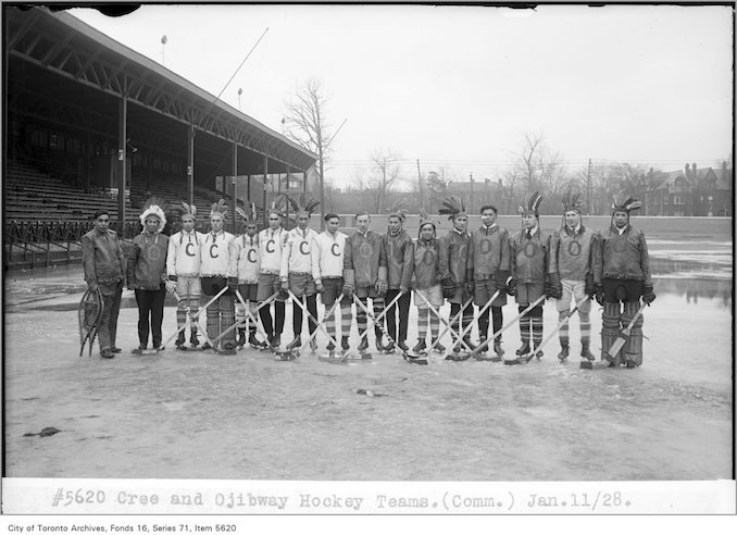 1928 - January 11 - Cree and Ojibway hockey teams