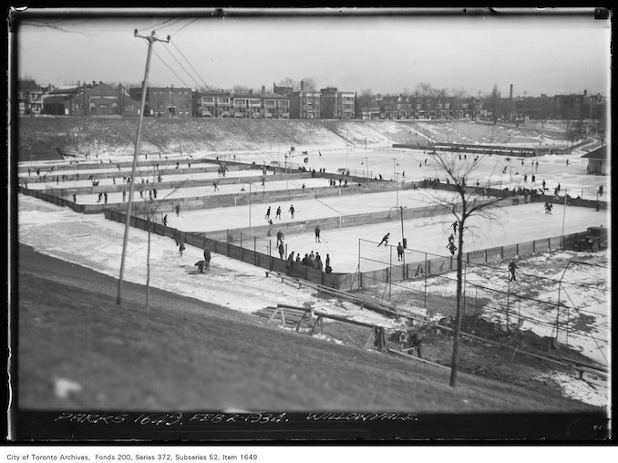 1934 - February 2nd - Willowvale Park - Hockey rinks