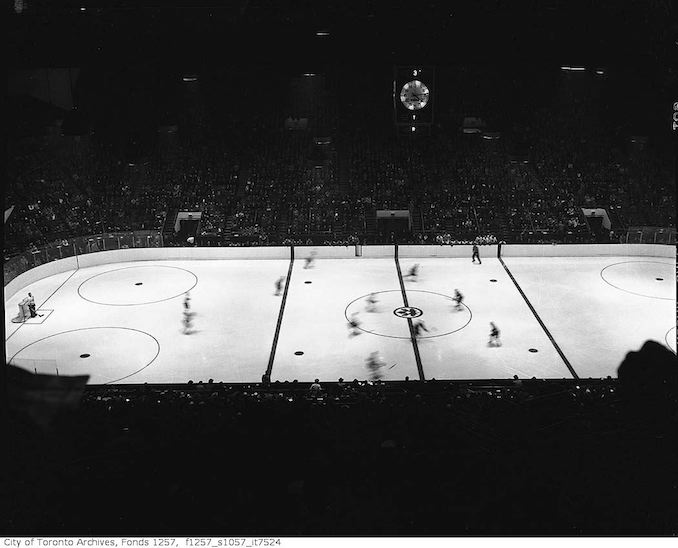 1946? - Hockey game, Maple Leaf Gardens