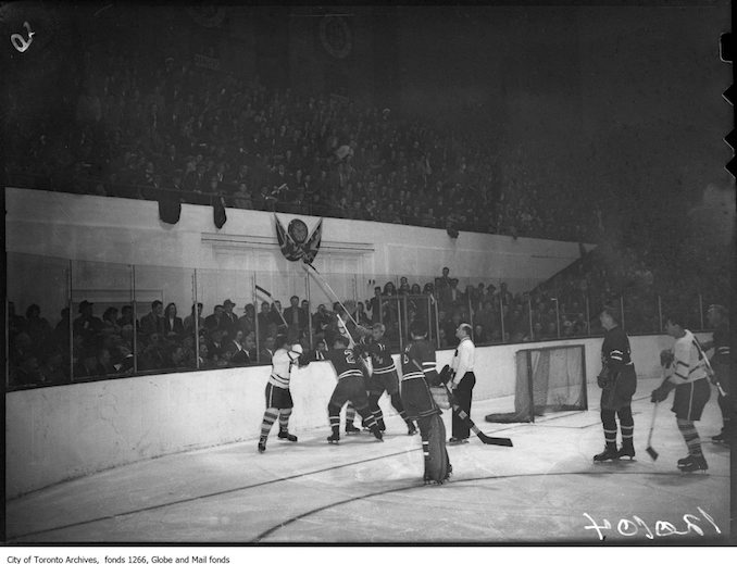 1947 - November 8th - Toronto New York hockey, fight