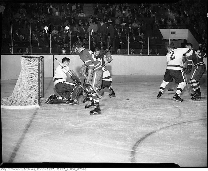1950? - Toronto Maple Leafs hockey game, Maple Leaf Gardens
