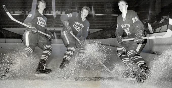 1970 - Rebuilding of Leafs is personified by these rookies Brian Marchinko Darryl Sittler Bob Liddington.