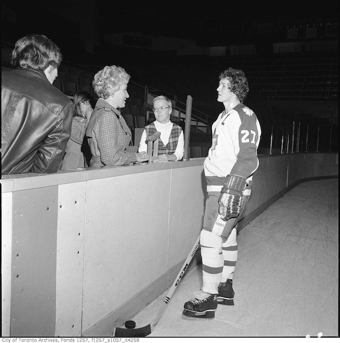 1970? - Darryl Sittler and Rosemarie for March of Dimes Put Yourself in the Picture campaign, Maple Leaf Gardens