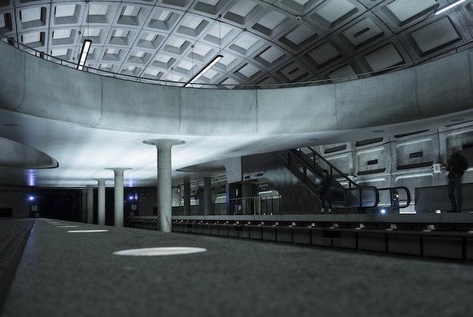 Washington DC metro station.