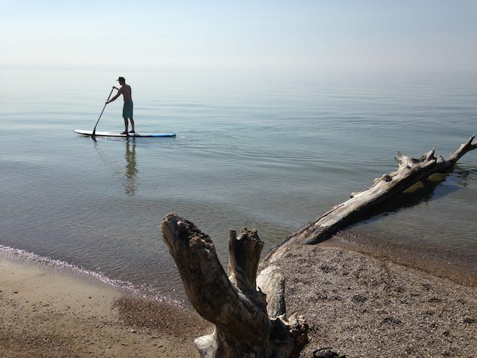In the summer I try to get out on the lake whenever possible, paddle boarding is a great relaxer and a great place to think about new ideas.