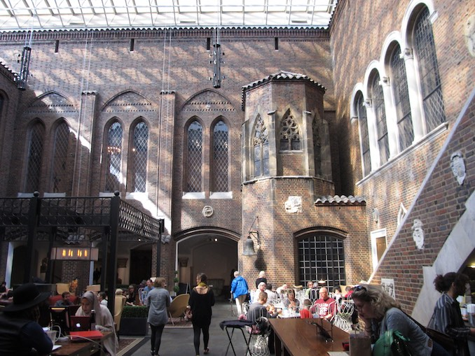 More from Day 2, a highlight of the DIA is the Medieval Kresge Courtyard cafe.