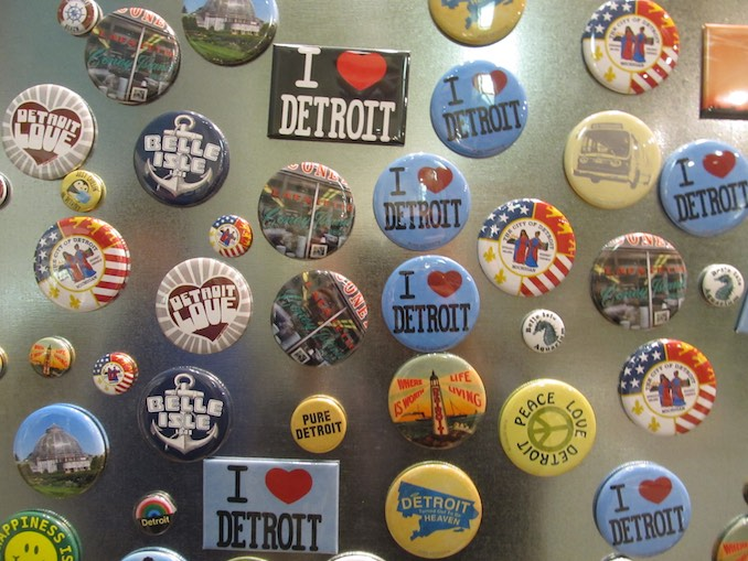Pure Detroit has four locations, the perfect store to pickup fun souvenirs.